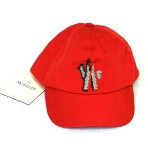 Moncler Unisex LTD Edition Red Cap NEW